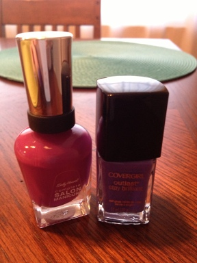 Sally Hansen Purple Posy and Covergirl Outlast Vio-Last