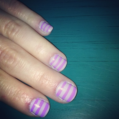 purple on purple stripes nails