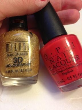 OPI and Milani nail polish