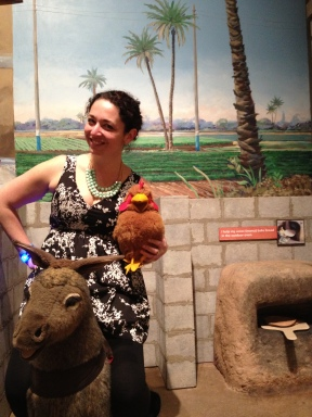 Just hangin' with some Egyptian animals.