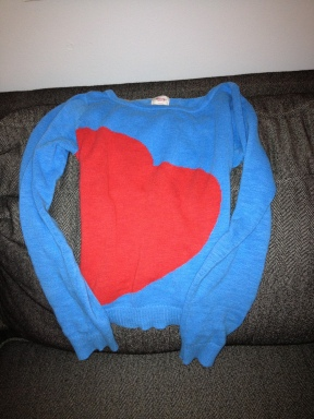mossimo heart sweater