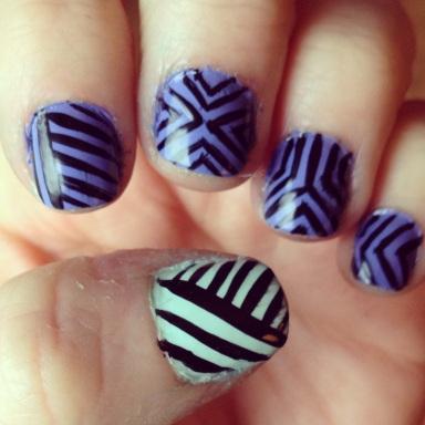 tribal pastel nails - hannahshaner.com