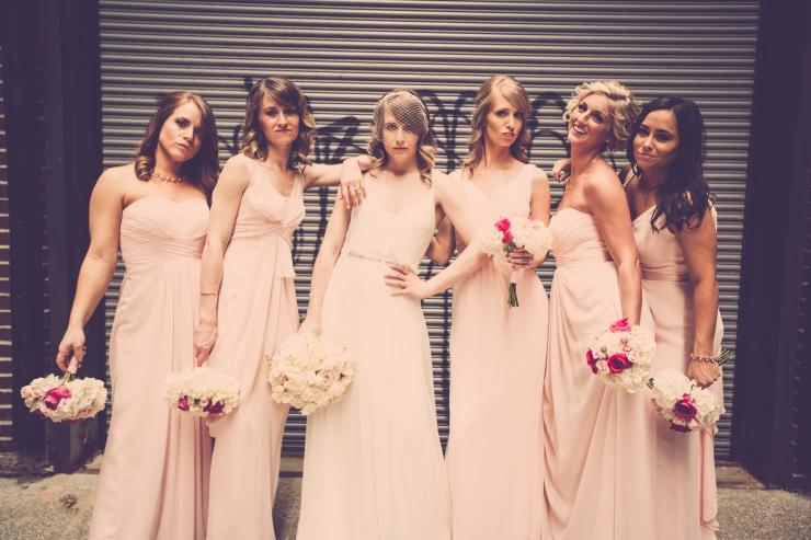 bridesmaid wedding shoot